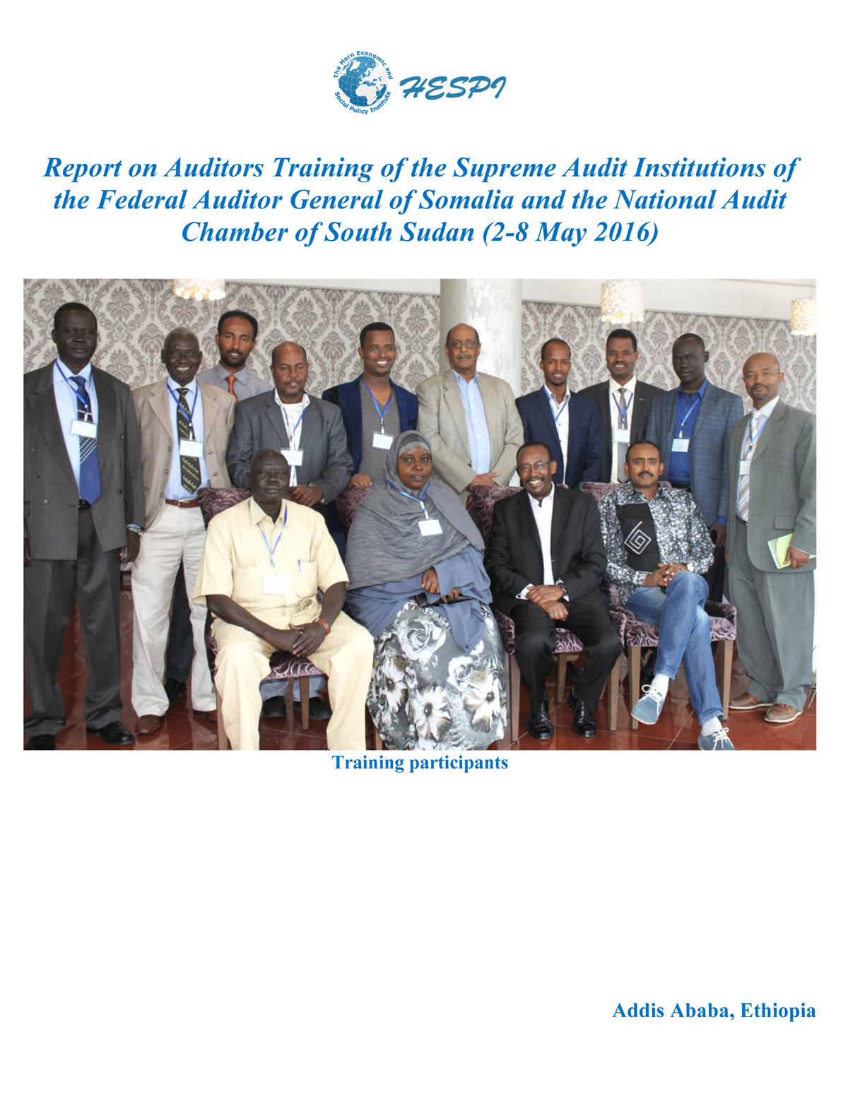 Auditors Training Report 2016-1