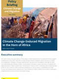 Climate Change-Induced Migration in the  Horn of Africa