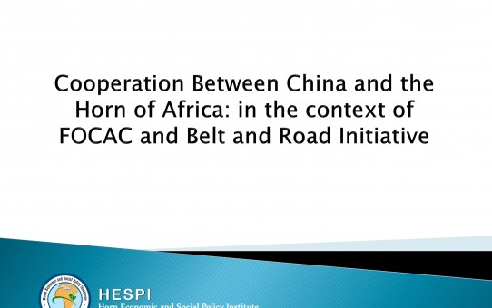 FOCAC and BRI in the Horn of Africa