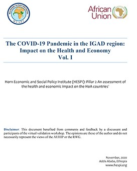 The COVID-19 Pandemic in the IGAD region:   Impact on the Health